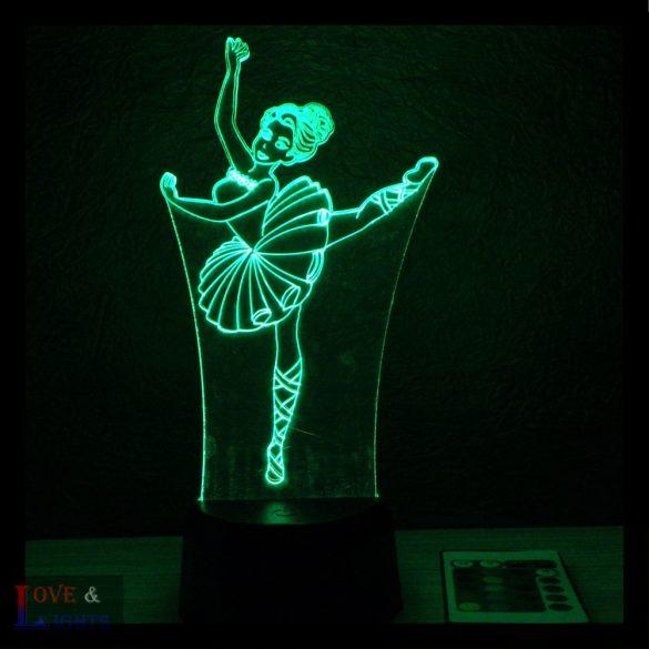 Balerina mintás lámpa kérhető felirattal