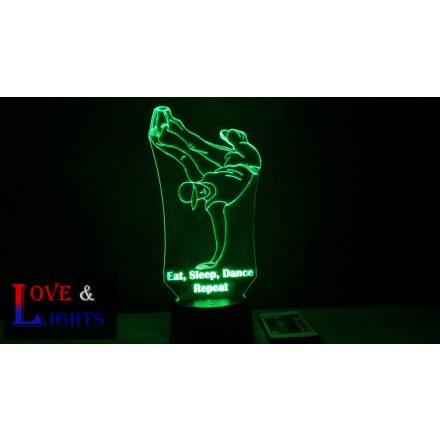 Hip-Hop táncos mintás lámpa kérhető felirattal