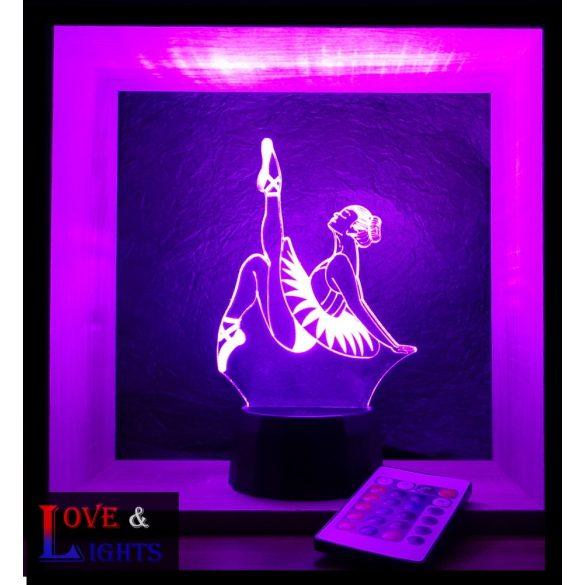 Táncoslány mintás lámpa kérhető felirattal