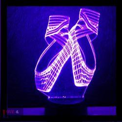 Balett cipő mintás 3d illúzió lámpa