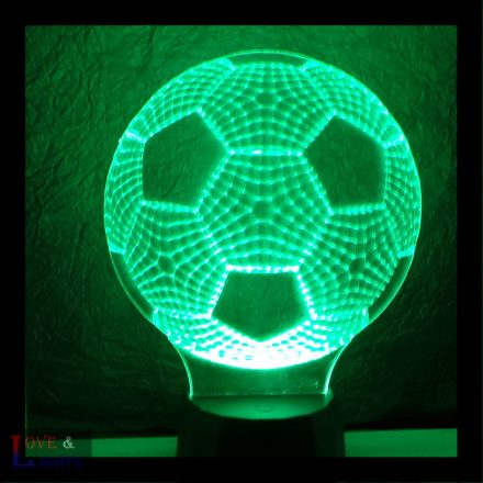 Focilabda mintás lámpa