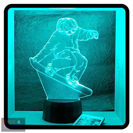 Snowboardos mintás lámpa
