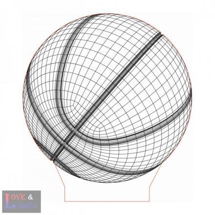 Kosárlabda mintás lámpa kérhető felirattal