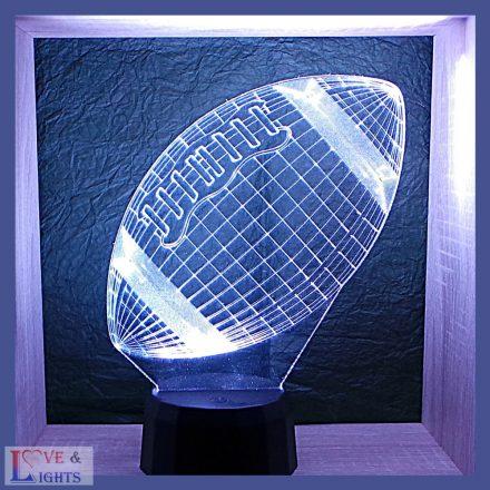 Amerikai foci ( NFL) labda  mintás lámpa kérhető felirattal