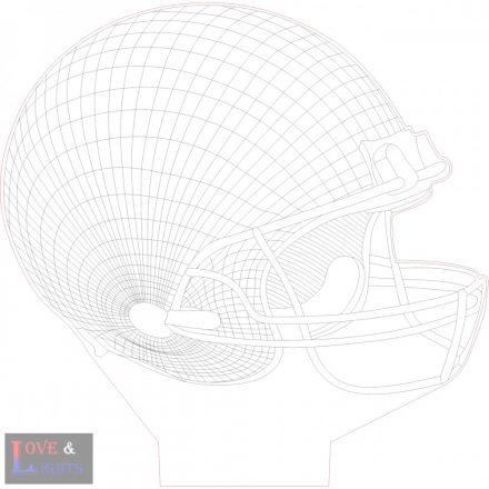 Amerikai foci ( NFL) sisak mintás lámpa kérhető felirattal