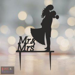Menyasszony & Vőlegény alakú  tortadísz