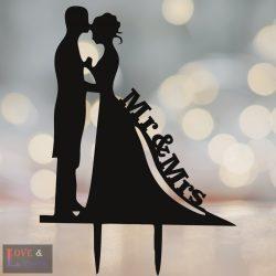 Menyasszony & Vőlegény mintás  tortadísz