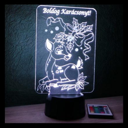 Szarvasos karácsonyi lámpa