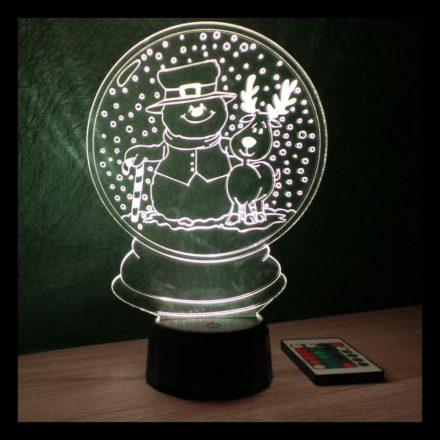 Hógömb mintás karácsonyi lámpa
