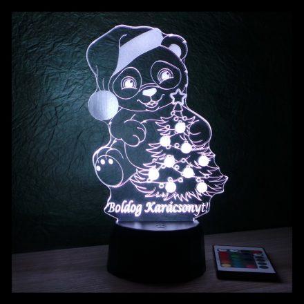 Maci mintás karácsonyi lámpa