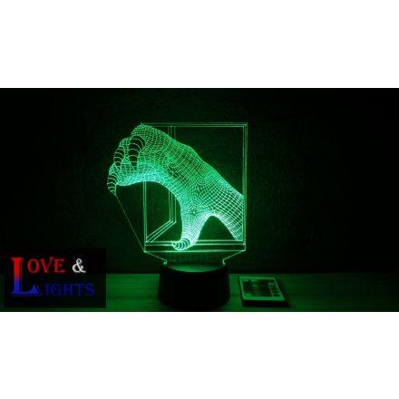 UFO kéz alakú illúzió lámpa