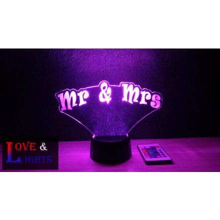 Mr & Mrs mintás illúzió lámpa