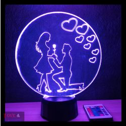 Szerelmes pár mintás illúzió lámpa