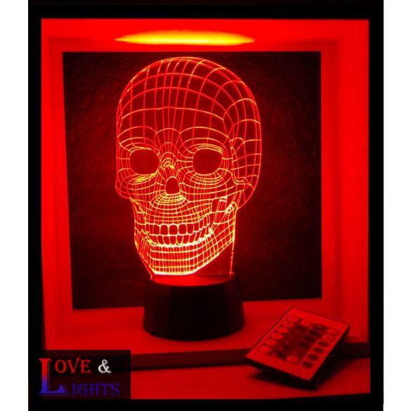 Koponya ( skull)  alakú illúzió lámpa