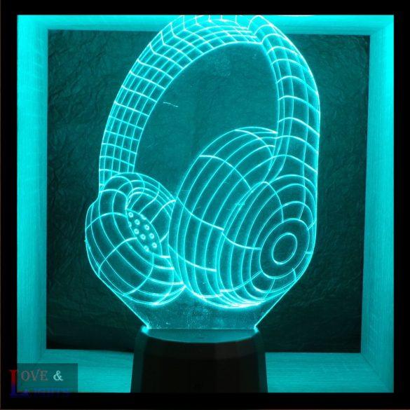 Fülhallgató mintás illúzió lámpa