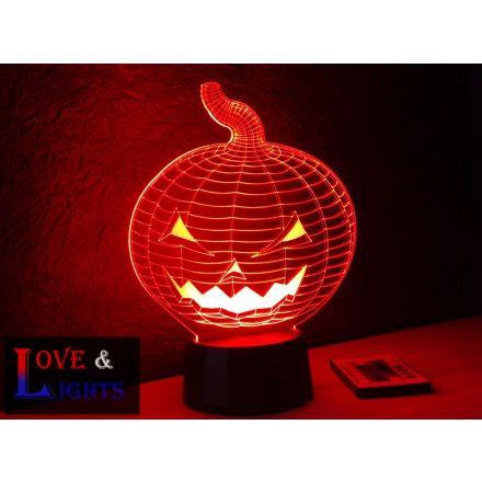 Halloweeni tök alakú illúzió lámpa