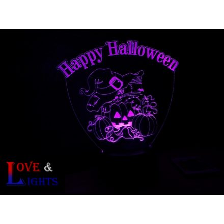 Cica mintás halloweeni illúzió lámpa