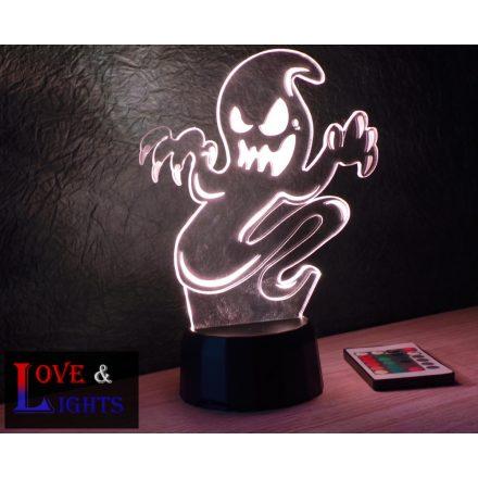 Szellem mintás halloweeni illúzió lámpa