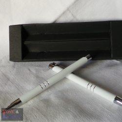 Fehér toll és rotring szett díszdobozban, egyedi felirattal