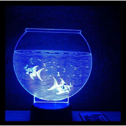 Akvárium alakú illúzió lámpa