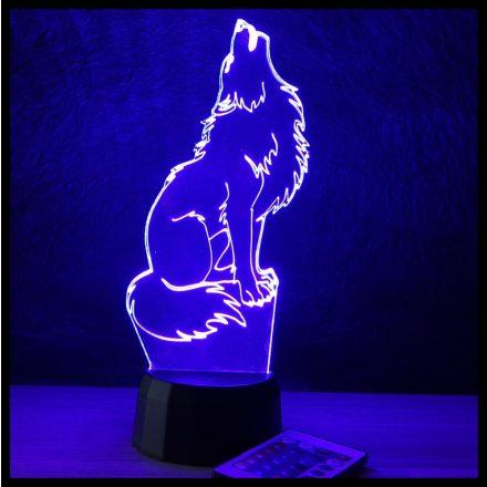 Farkas mintás lámpa