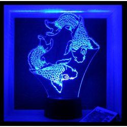 Halak mintás illúzió lámpa