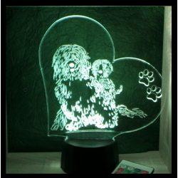 Komondor kutya mintás illúzió lámpa