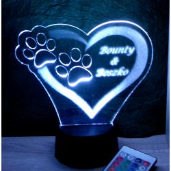 Mancsos egyedi feliratos lámpa
