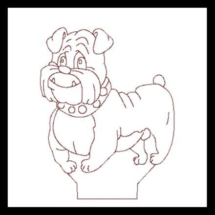 Buldog kutya mintás 3D illúzió lámpa - előrendelhető