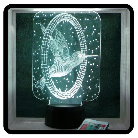 Kolibri mintás illúzió lámpa