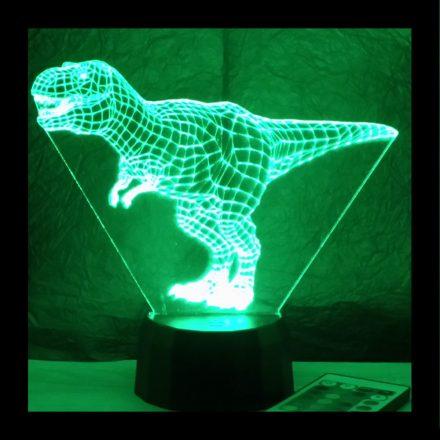 T-REX dinó mintás illúzió lámpa