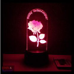 Rózsa egyedi felirattal