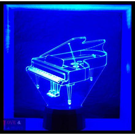 Zongora mintás lámpa