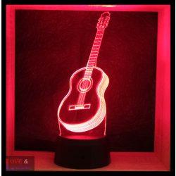 Akusztikus gitár mintás lámpa