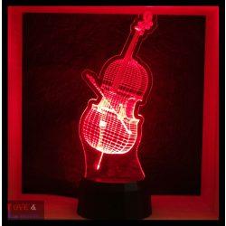 Cselló mintás lámpa