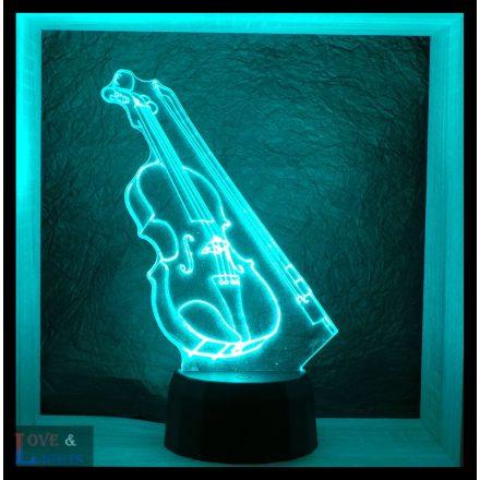 Hegedű mintás lámpa