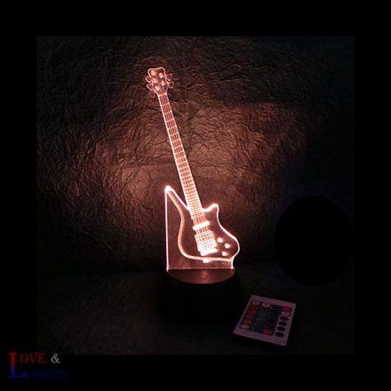 Elektromos gitár mintás lámpa -előrendelhető