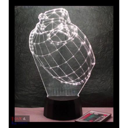 Kézigránát mintás 3D illúzió lámpa