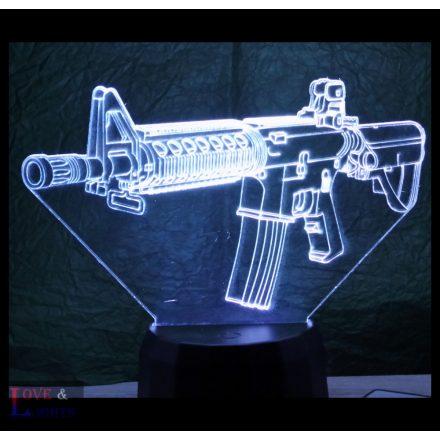 Automata fegyver mintás 3D illúzió lámpa