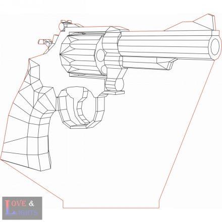Revolver mintás 3D illúzió lámpa