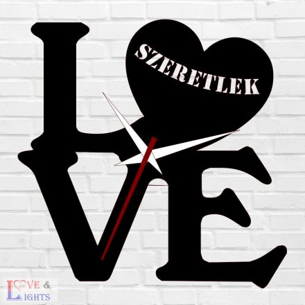 LOVE mintás óra felirattal
