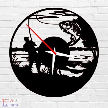 Horgász mintás óra