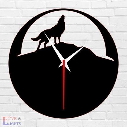 Farkas mintás fali óra