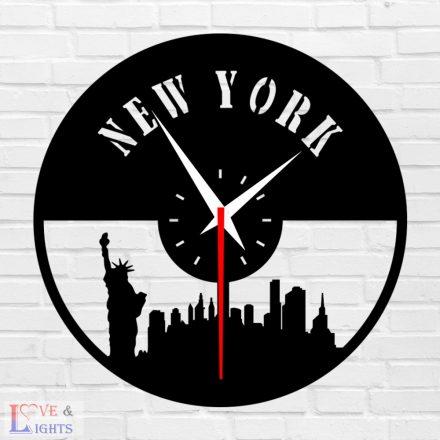 New York mintás fali óra