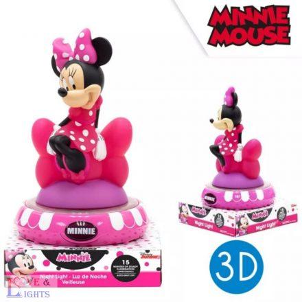 Minnie egér mintás 3D-s éjjeli fény