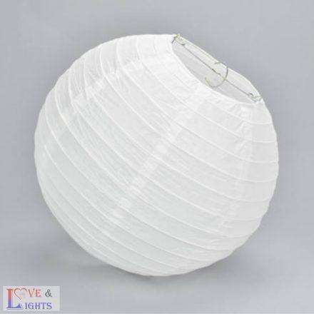 Fehér papír lampion 30 cm