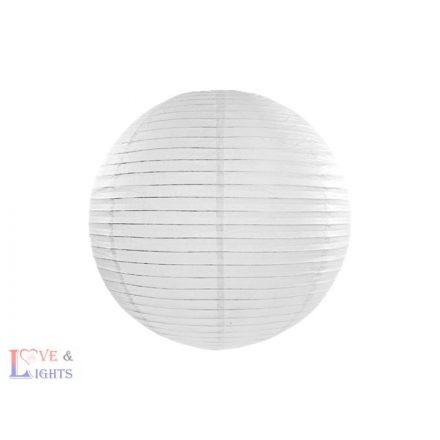 Fehér papír lampion 45 cm