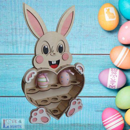 Nagy húsvéti tojástartó - Csináld magad dísz!