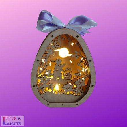 Húsvéti fa lámpák - különböző mintával