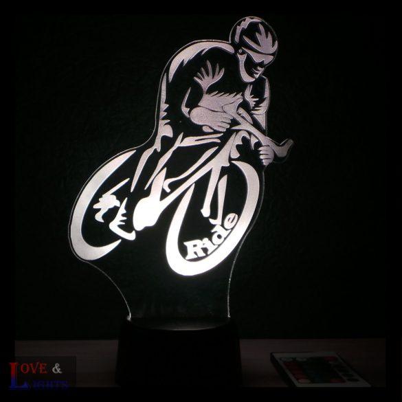 Bicikliző kérhető felirattal